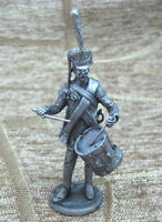 Tin Figurine 54 mm Drummer of the Life Guards Semenov regiment 1812 year 1:32