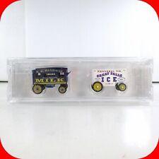 N Scale VINTAGE WAGON 2-Pack - Baldwin Milk, Kennebec Ice -MICRO TRAINS 47000219