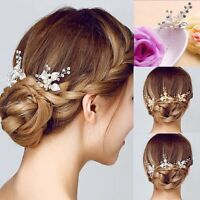 Crystal Rhinestone Pearl Hairpin Flower Diamante Hair Clips Comb Wedding  Jewelry 6abd1ebb29a6