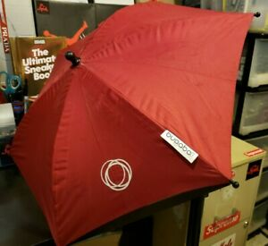 Bugaboo Parasol Umbrella for Baby Stroller EXCELLENT CONDITION Red Clip Missing