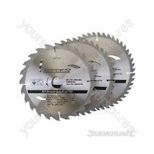 Hojas De Sierra Circular TCT 24, 40, 48 T 3pk - 205 X 30 - 25, 18, 16 mm Anillos