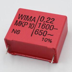 1x WIMA MKP-10 0,22uF 220nF 1600V Impulskond. 27,5 mm z.B. für Insekten Schröter