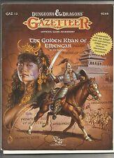 The Golden Khan of Ethengar GAZ 12  9246 TSR Gazetteer Dungeons&Dragons D&D