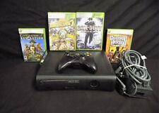 New listing Microsoft Xbox 360 Elite Bundle W/ One Controller + 4 Games