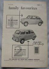 1957 Fiat 600 Original advert No.1