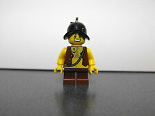 Lego Pirate Minifigure With Chest Hair And Conquistador Helmet Short Brown Legs