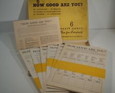 1937 How Good Are You ? By Whitman Publishing 6 Party - Trivia Games In One