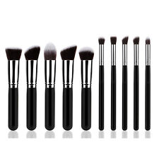 10 Pieces Professional Kabuki Make Up Brush Set Cosmetic Brushes For Face Eyes