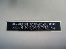 2016-17 Golden State Warriors Nameplate For A Signed Basketball Jersey 1.5 X 6