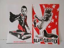 "Blunt Graffix Sticker Art of Obama and Trump 4"" x 6"""