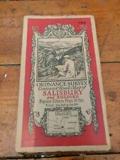 Vintage Cloth Ordnance Survey Map Of Salisbury And Bulford