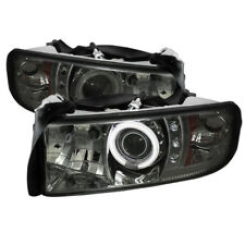 94-02 DODGE RAM 2500/3500 SPYDER SMOKED PROJECTOR HEADLIGHTS W/CCFL HALO.