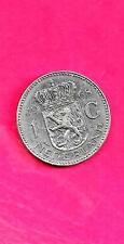 NETHERLANDS DUTCH KM184a 1968 XF-SUPER FINE-NICE OLD LARGE GULDEN coin