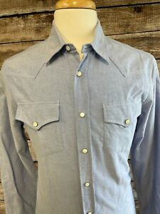 Brunello Cucinelli Leisure Fit Western Pearl Snap Shirt Size M S