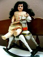 Vintage Rocking Horse Doll Display For French Bisque Other