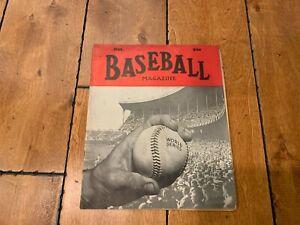 1938 BASEBALL MAGAZINE OCTOBER WORLD SERIES ON COVER