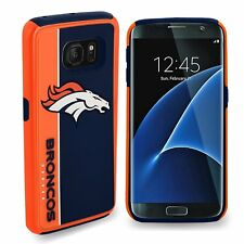 Samsung Galaxy S8 PLUS Denver Broncos Bold Dual Hybrid 2 Piece Case NF