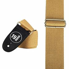 Beige cream simple Guitar Strap double sided class folk jazz style 3080 group