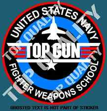 TOP GUN FIGHTER WEAPONS SCHOOL DECAL STICKER MILITARY AIR FORCE DECALS STICKERS