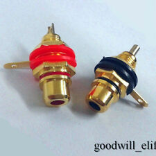 100 pcs Gold plated RCA Jack Panel Mount Chassis Socket
