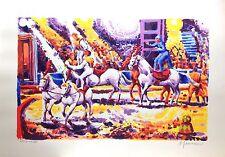 """ATHOS FACCINCANI 70x100 serigrafia su carta """" Il circo """" - per Veri amatori"""