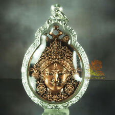 Thai Amulet Kali Hindu Goddess Coin 39mm Bronze color with Real Silver Case
