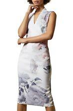 TED BAKER LONDON Bouquet Floral Print Crepe Midi Dress