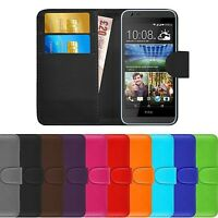 Premium Luxury Leather Flip Wallet Book Case Cover For HTC Desire 620