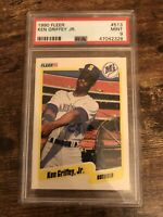 1990 Fleer Ken Griffey Jr. PSA MINT 9 HOF Mariners Reds