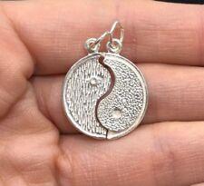 NEW Sterling Silver Yin Yang Pendant 925 Break Charm S/S Dark Light Yoga Spirit