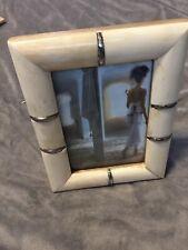 5x7 Off White Stone Photo Frame Zodax