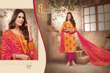Designer Churidar Salwar Kameez Suit Dress Material Fancy Chanderi Work AKIRA02