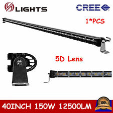 "40"" 150W Cree Slim Single Row LED Light Bar Off-road Driving UTE Truck 5D Lens"