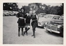 Vintage Photo 3 Ladies In Old Time Antique Bathing Suits Flappers by Classic Car