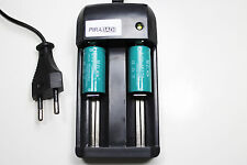 CHARGEUR RS08 + 2 BATTERIE PILE 16340 CR123 1200mAh RECHARGEABLE 3.7V ION ACCU