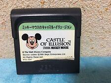 Castle of Illusion Game Gear Japan Sega Disney Mickey Mouse