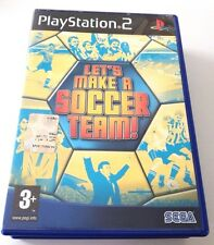 LET'S MAKE A SOCCER TEAM! PLAYSTATION 2 PS2 ITALIANO SPED GRATIS SU + ACQUISTI!!