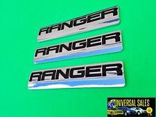 SET OF 3 RANGER FORD EMBLEM BADGE NAMEPLATE FENDER REAR TAILGATE 2005-2011 NEW