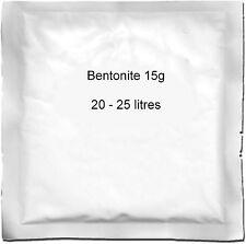 Bentonite 15g (25L) bustina per Birra fatta in casa birra Vino & Ciderage