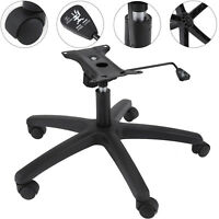 Office Chair Bottom Plate, Cylinder, Base, 5 Casters Complete Under Seat Kit NEW