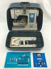 VTG Brother Charger 622 Sewing Machine Case  w/ Lock Keys Foot Pedal Manual