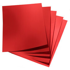 Hygloss Red Metallic Foil Board Sheets, 8.5 x 11-Inch, Shiny, 25-Sheets