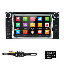 Double 2Din GPS Navi Car Dvd Player Stereo For TOYOTA Landcruiser RAV4 Camry+Cam