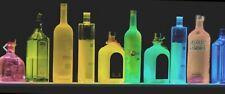 24 Lighted Liquor Bottle Display Multi Color Led Behind Bar Barware Shelf