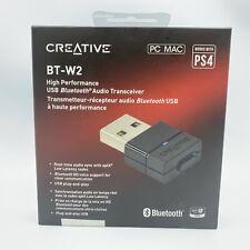 Creative BT-W2 High Performance USB Bluetooth Audio Transceiver PC MAC PS4 - NEW