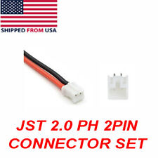 Mini Micro JST 2.0 PH 2-Pin Connector plug with Wires Cables 120mm or 4 3/4 inch