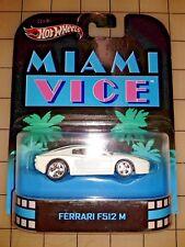 Hot Wheels Retro Entertainment Series Miami Vice Ferrari F512 M White