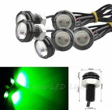 6 Pcs Eagle Eye COB LED Car Daytime Running DRL Tail/Head Light Backup Green 12V