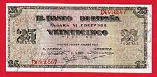 SPAIN 25 PESETAS 1938  BURGOS  VF+