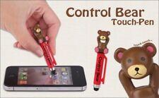 Bear Stylus Pen & Earphone Jack Plug for ALL Mobile Phones, Tablet, Touchscreen